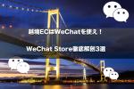 越境ECはWeChatを使え!WeChat Store徹底解剖3選